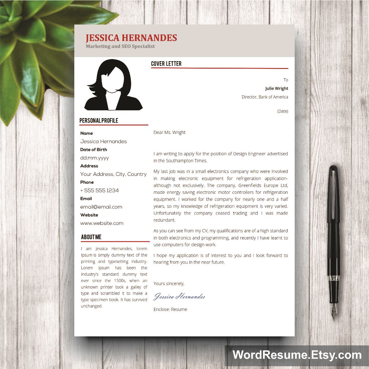 mock cover letter for resume