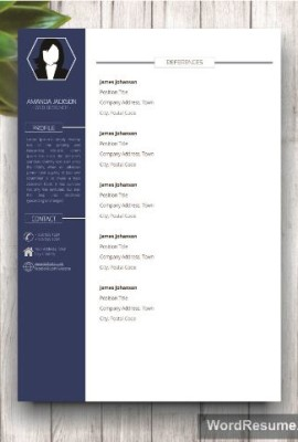 Mockup Template Resume 1 page 2 blue
