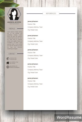 Mockup Template Resume 1 references grey