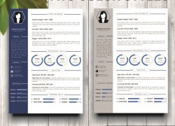 Mockup Template Resume 1 two color styles