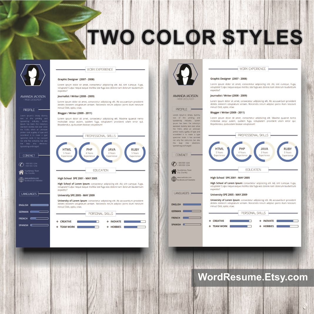 Putting color on resume
