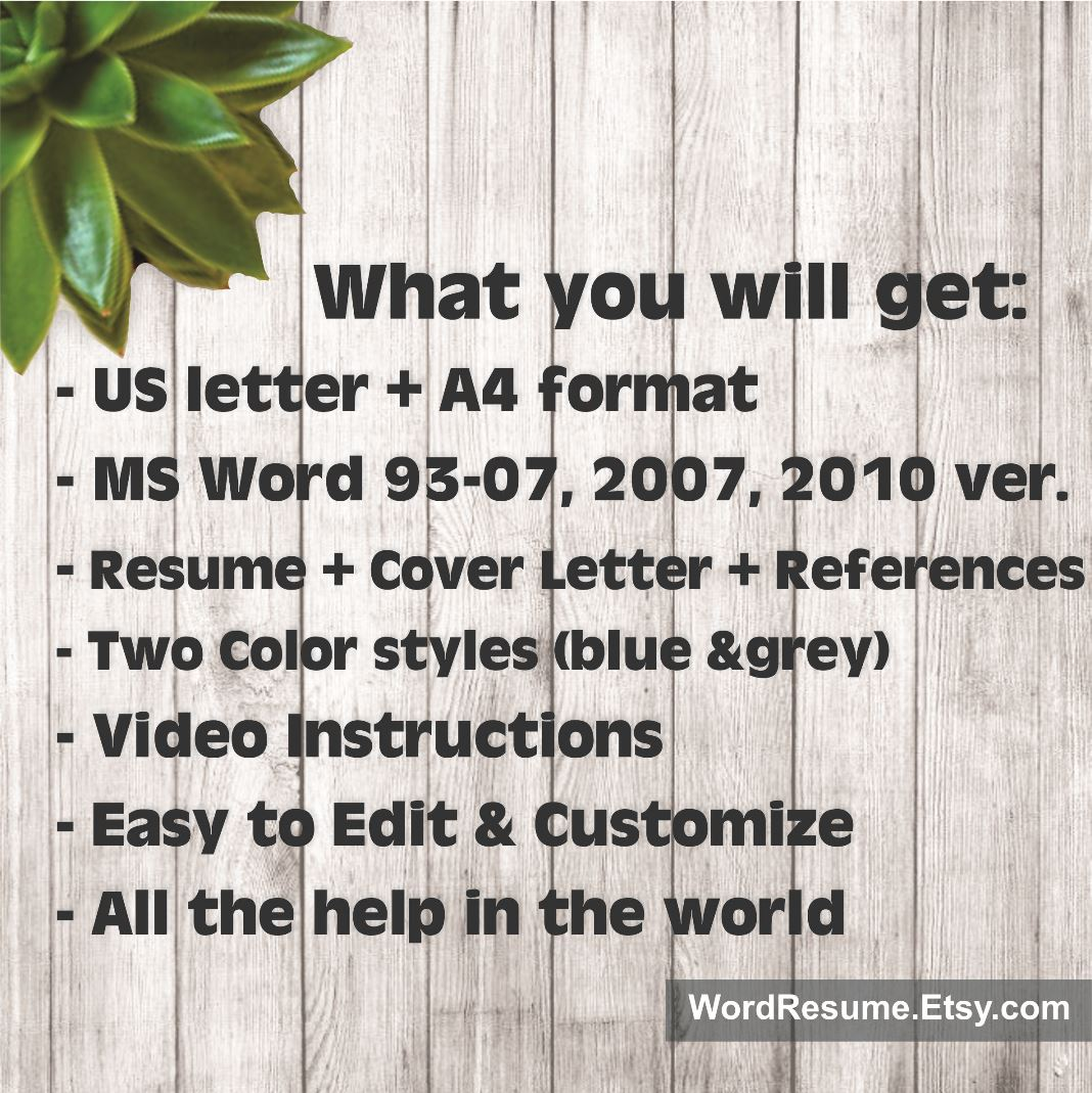 template resume cover letter