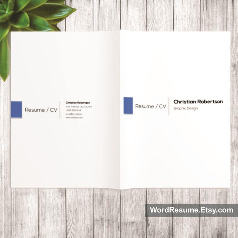 Exclusive Resume Template Christian Robertson Creative