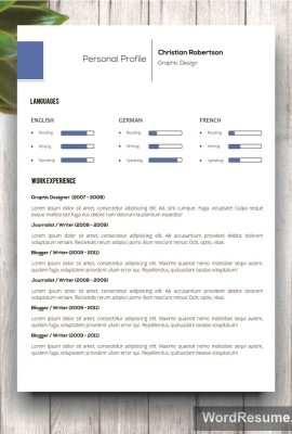 Mockup Template Resume 10 forth page
