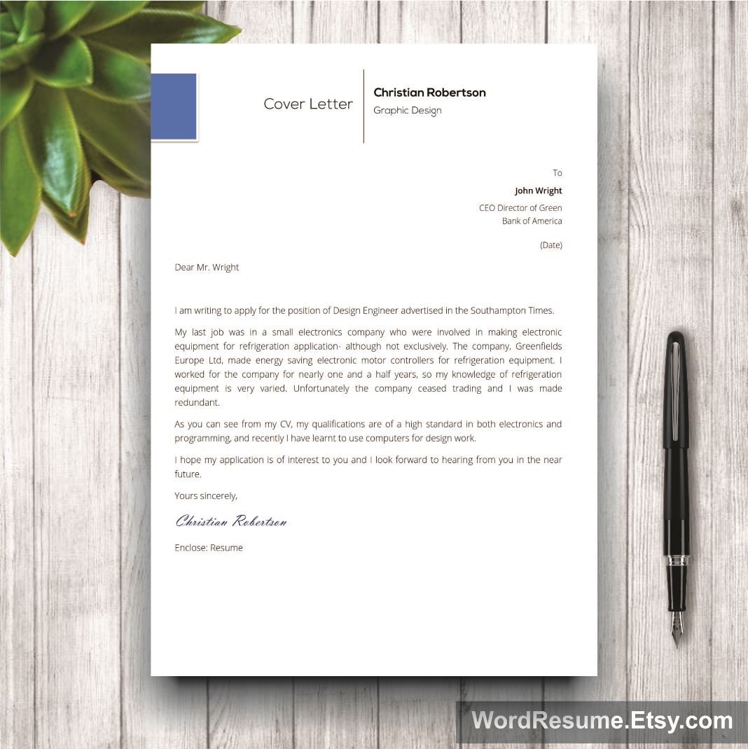 Page Exclusive Resume Template Including Cover Letter References