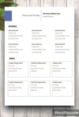 Mockup Template Resume 10 sixth page