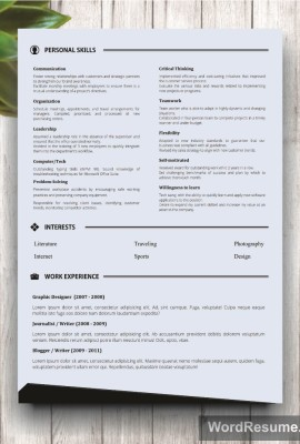 Mockup Template Resume 2 page 2