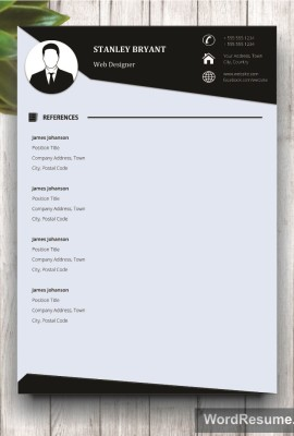 Mockup Template Resume 2 references