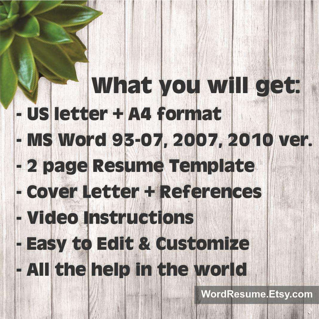 Modern Resume Template With Photo + Cover Letter - \
