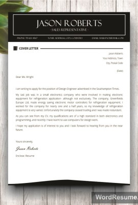 Mockup Template Resume 3 cover letter