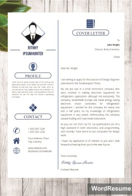 Mockup Template Resume 4 cover letter