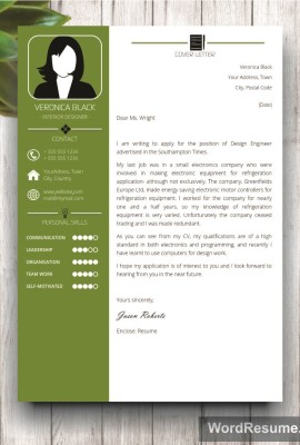 Mockup Template Resume 5 cover letter