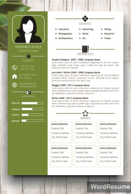 Mockup Template Resume 5 page 1