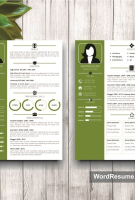 Mockup Template Resume 5 two page resume
