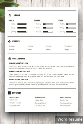Mockup Template Resume 6 page 2