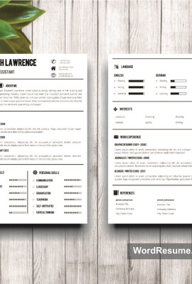 Mockup Template Resume 6 two pages
