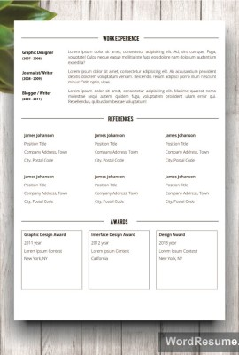 Mockup Template Resume 8 second page