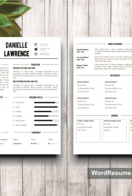 Mockup Template Resume 8 two pages