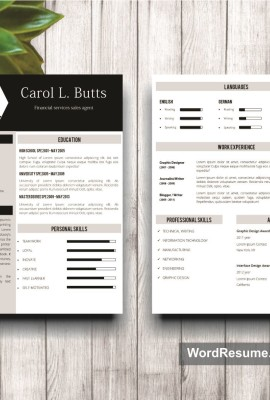 Mockup Template Resume 9 1st and 2nd page