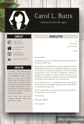 Mockup Template Resume 9 cover letter