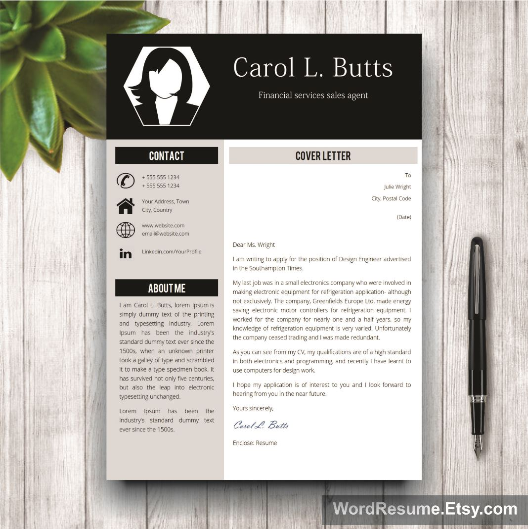 Clean Resume Template Carol L Butts