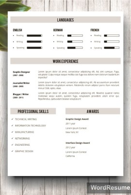 Mockup Template Resume 9 page 2