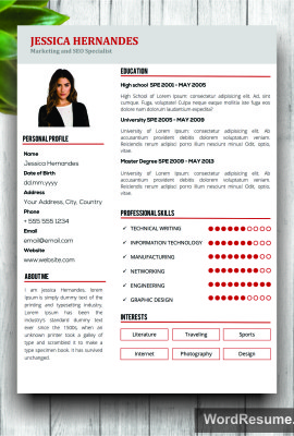 BUY THIS RESUME $15