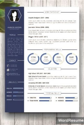 Mockup Template Resume 1 blue