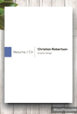 8 Page Exclusive Resume Template Including Cover Letter, References And  Portfolio U2013 U201cChristian Robertsonu201d  Cover Page Template For Resume