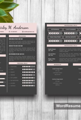 Mockup Template Resume 12 page 1st and 2nd
