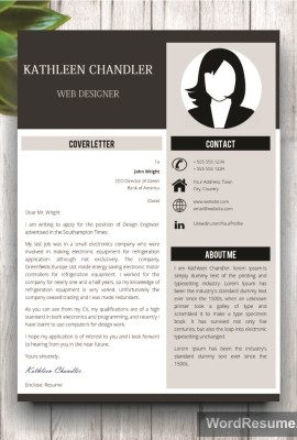 Mockup Template Resume 13 cover letter