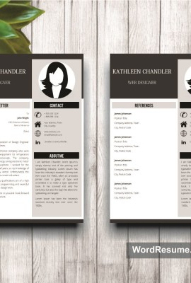 Mockup Template Resume 13 cover letter + references