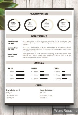 Mockup Template Resume 13 page 2