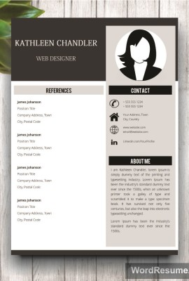 Mockup Template Resume 13 references