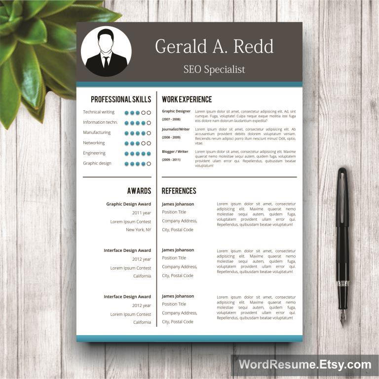 Creative CV Template + Cover Letter Word - \