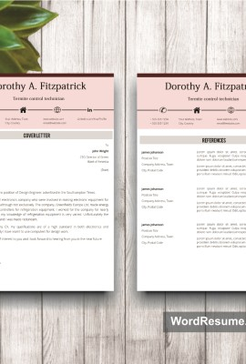 Resume Template Mockup 17 cover letter plus references