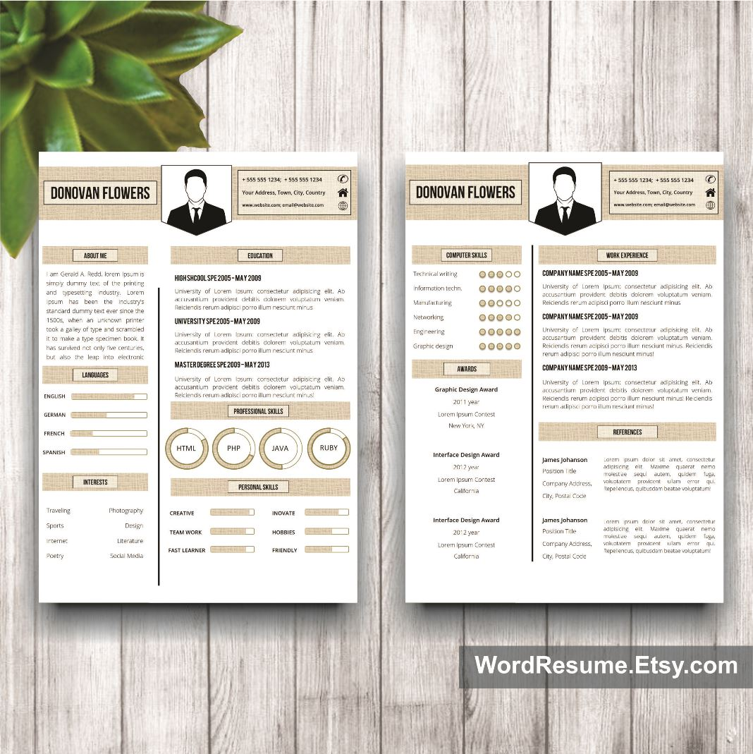 Resume Template and Cover Letter -
