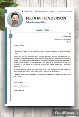 CV Cover Letter Template Word