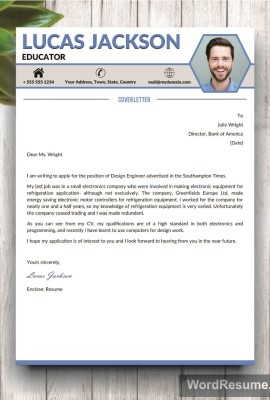 Mockup Template Cover Letter