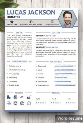 Creative and professional resume templates