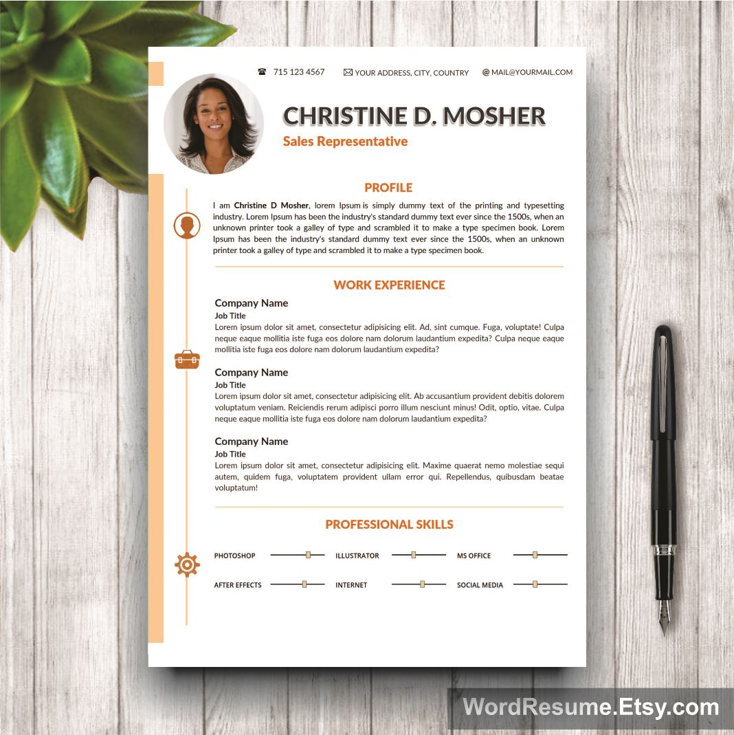 curriculum vitae template  cover letter and portfolio