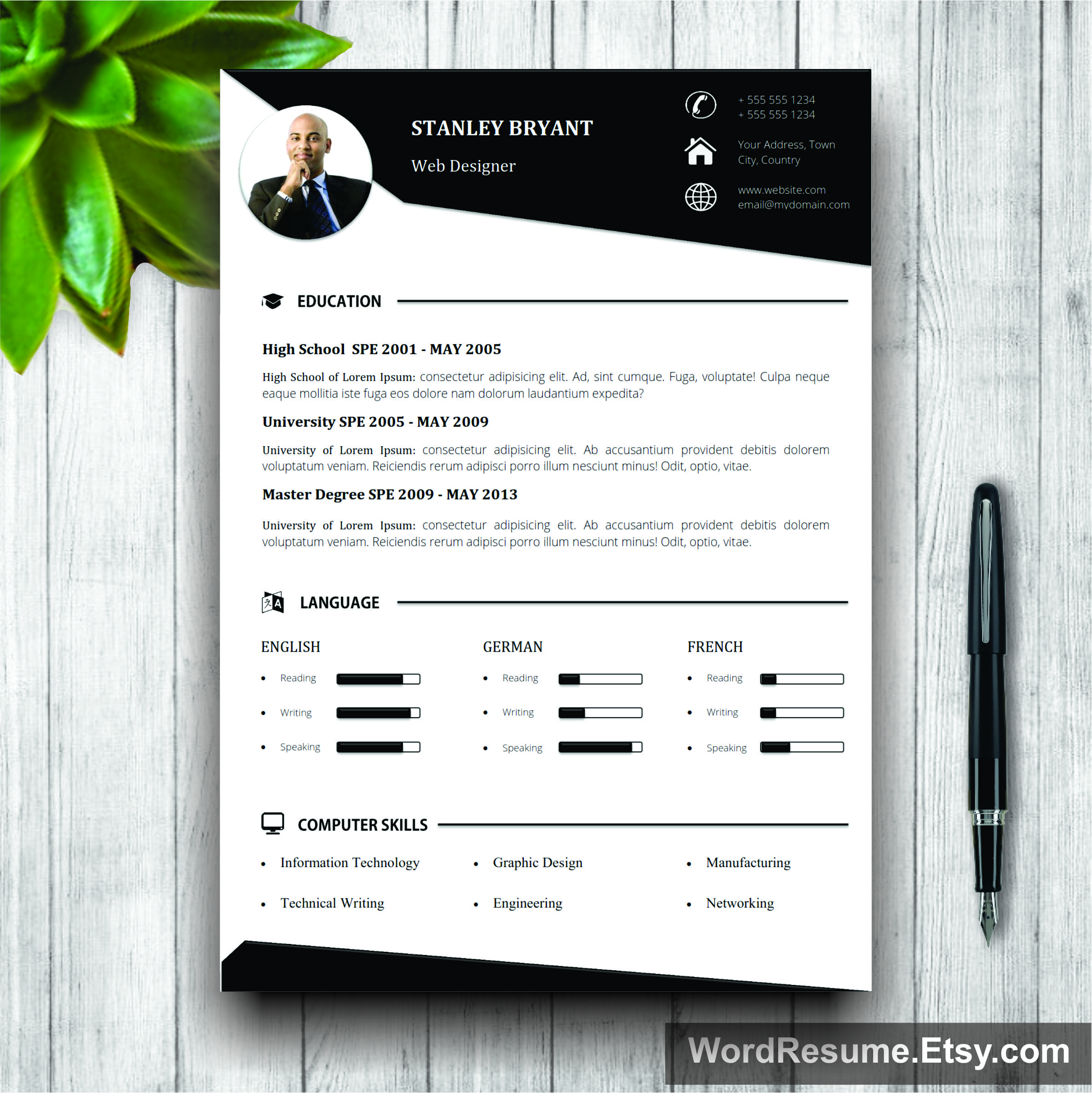 mockup template resume creative resume templates
