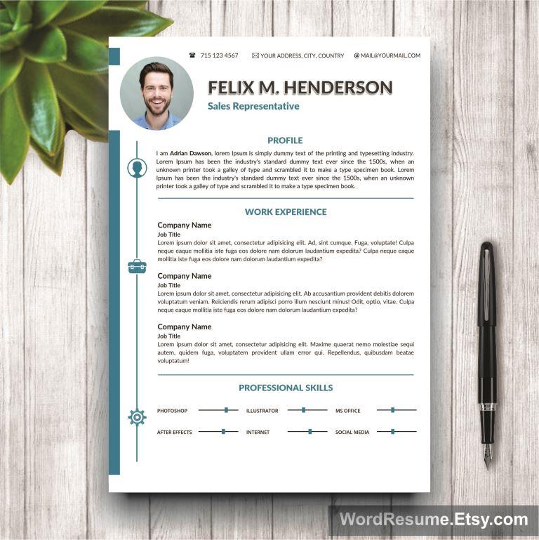 Resume Template 2 pages Mockup