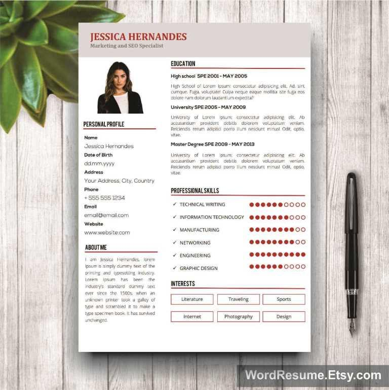 Clean Resume Template for Word - \