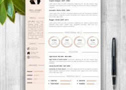 "Resume Template With Photo + Cover Letter – ""Darla L. Richards"""