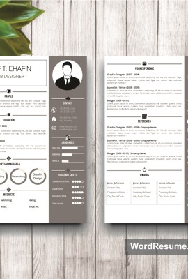 Resume Template Mockup 19 page 1 and page 2