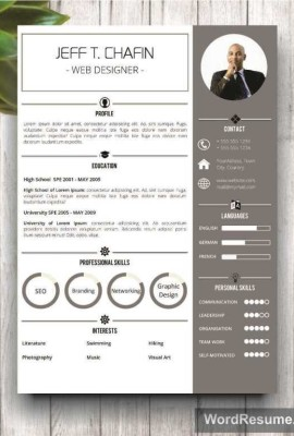 "Professional Resume Template Design – ""Jeff T. Chafin"""