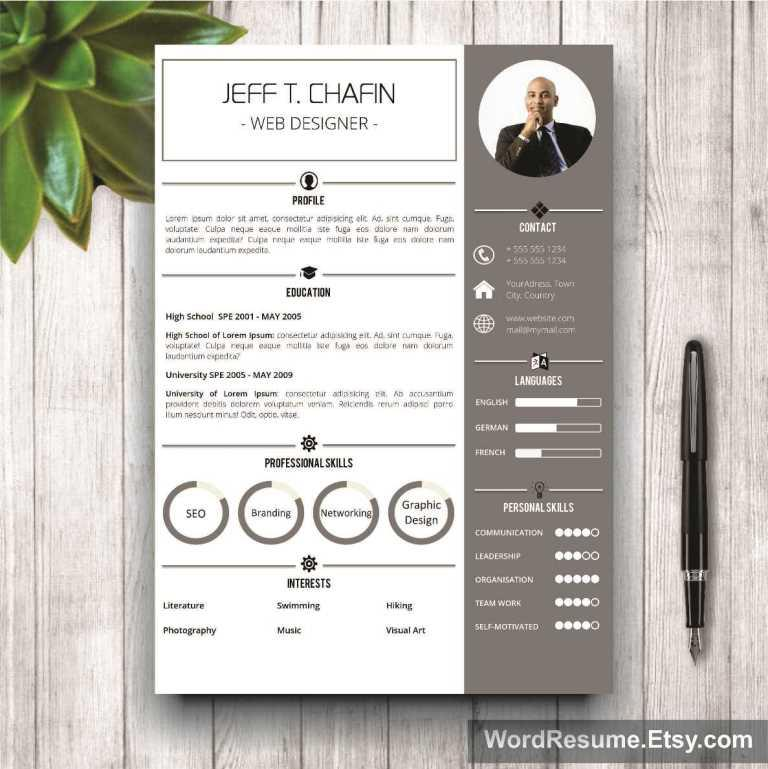 Professional Resume Template Design  Jeff T Chafin  Creative