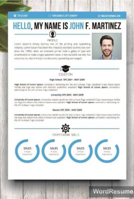 "Microsoft Word Resume Template & Cover Letter – ""John F. Martinez"""