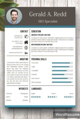Delightful Creative Word Resume Templates .